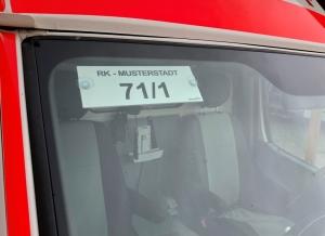 Fahrzeugidentschild (mit eigenem Motiv)