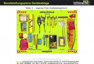 Bereitstellungsplane Geräteablage